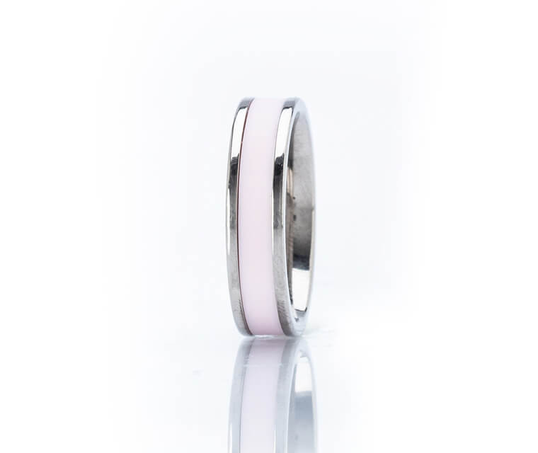 Raphael - Single Narrow - 14K White Gold - 7mm