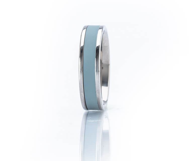 Morisot - Single Narrow - Silver Ring - 6mm