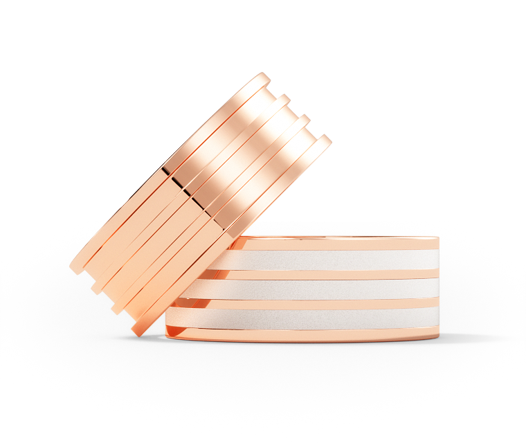 Martin - Evenly Spaced - 10k Rose Gold - 5mm