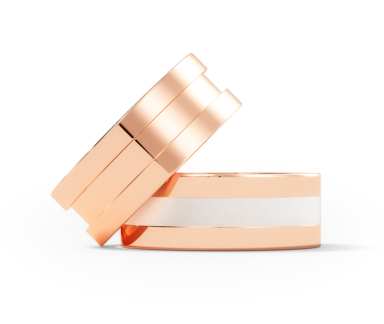 Raphael - Single Narrow - 10K Rose Gold Ring  - 7mm